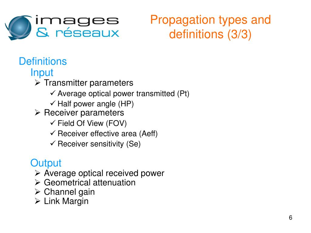 Propagation types and definitions (3/3)