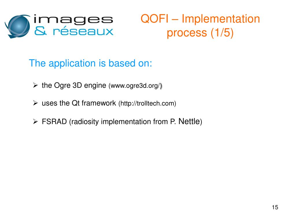 QOFI – Implementation process (1/5)