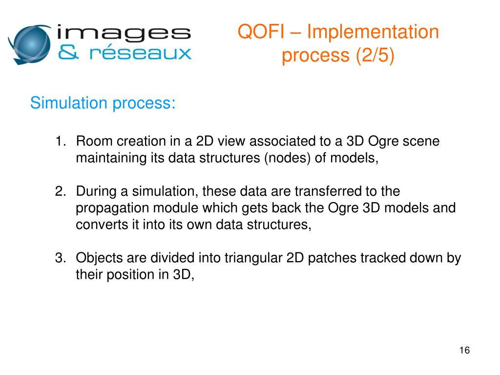 QOFI – Implementation process (2/5)