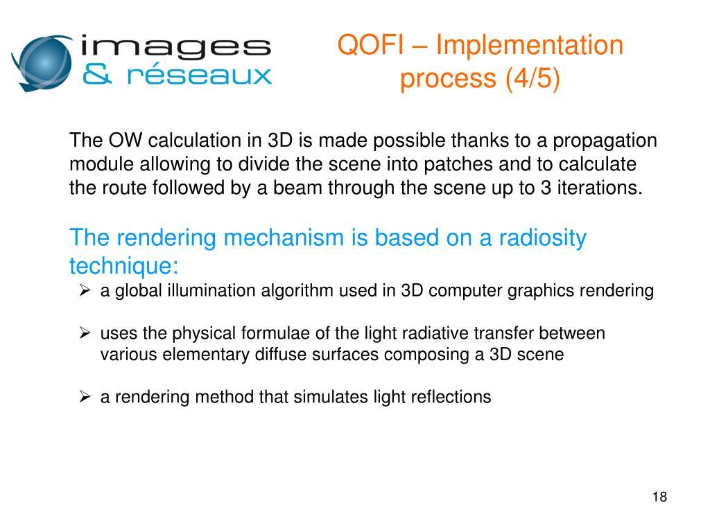 QOFI – Implementation process (4/5)