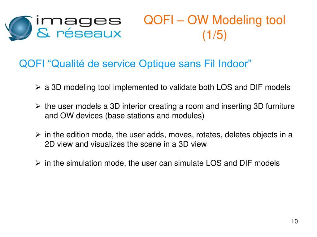 QOFI – OW Modeling tool (1/5)