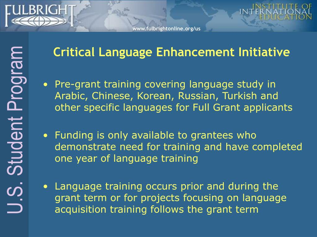Critical Language Enhancement Initiative