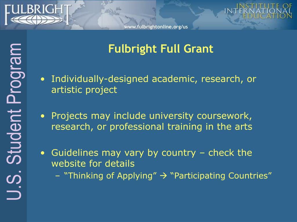 Fulbright Full Grant