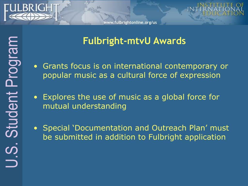 Fulbright-mtvU Awards