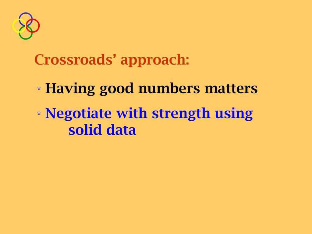 Crossroads' approach: