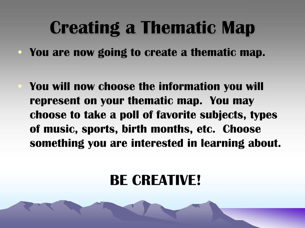 Creating a Thematic Map