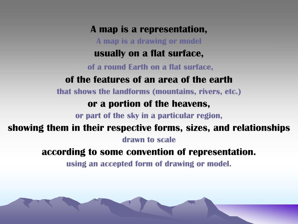 A map is a representation,