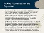 nexus harmonization and expansion