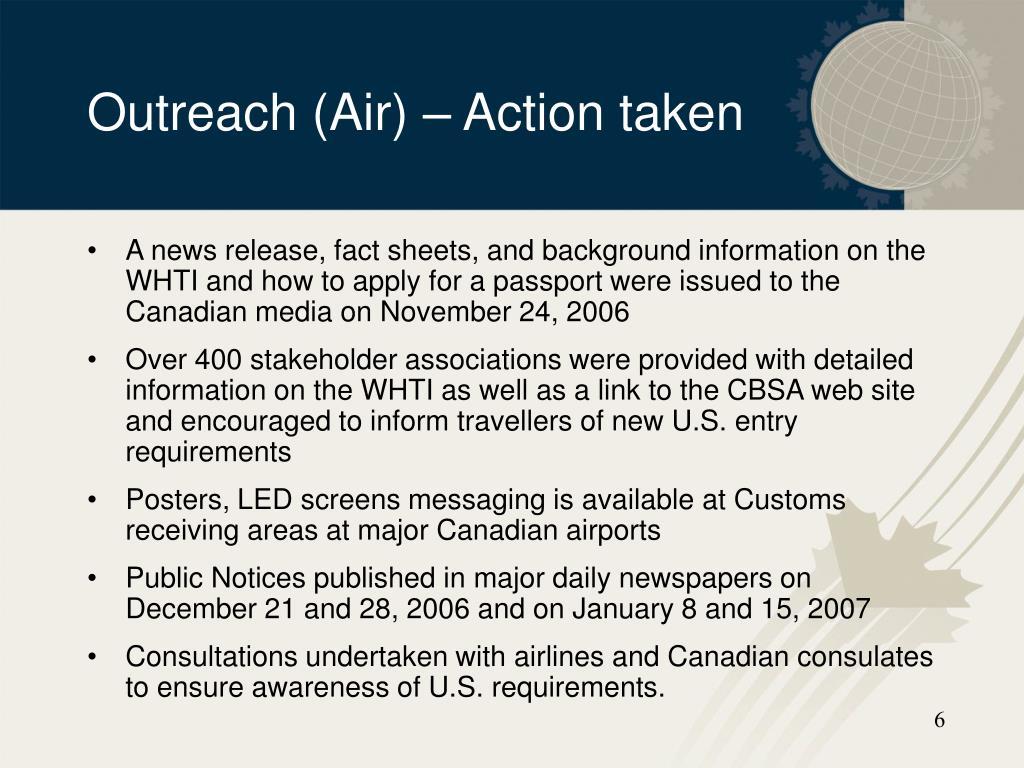 Outreach (Air)