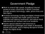 government pledge