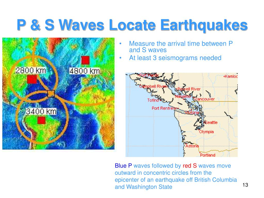 P & S Waves Locate Earthquakes