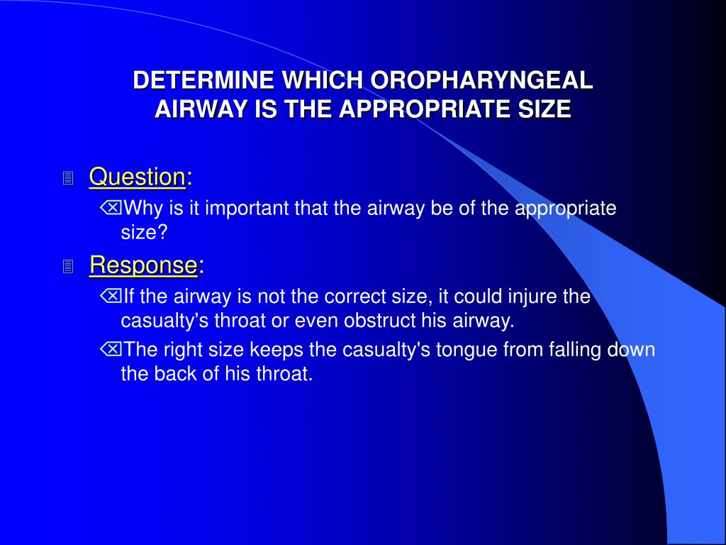 DETERMINE WHICH OROPHARYNGEAL