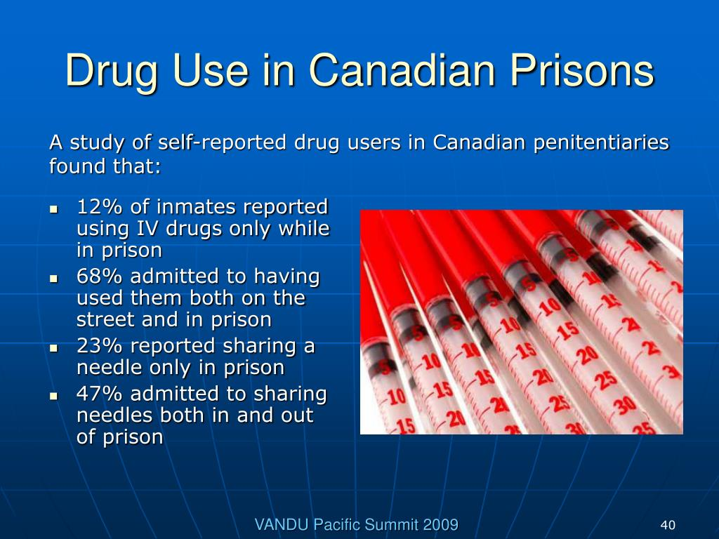Drug Use in Canadian Prisons