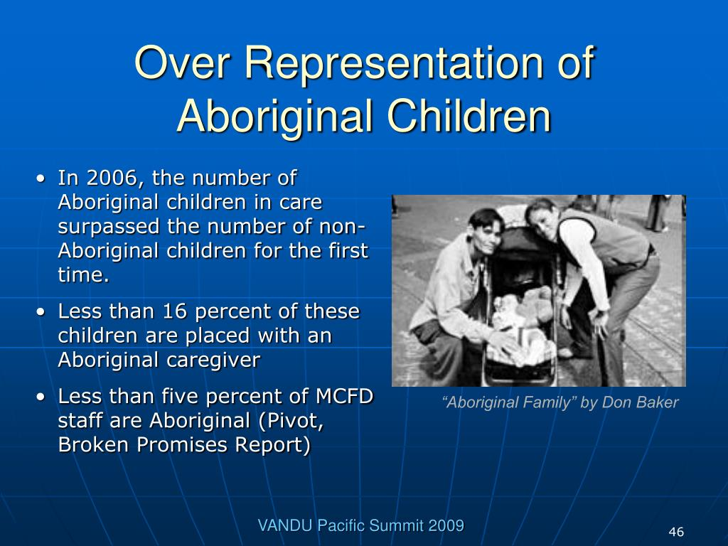 Over Representation of Aboriginal Children