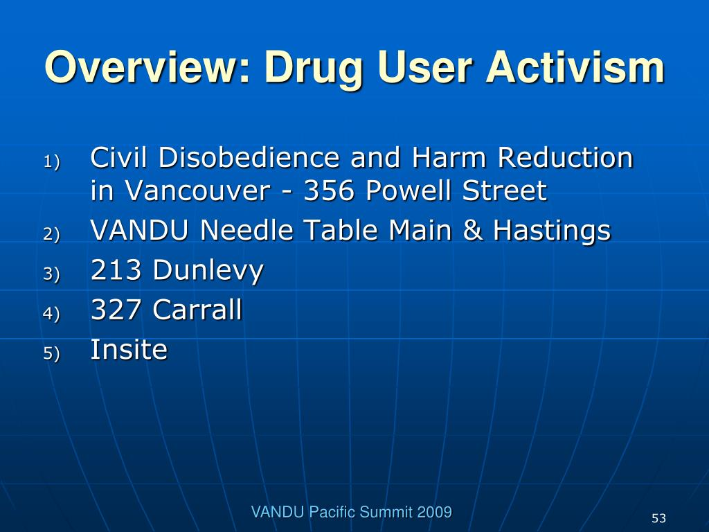 Overview: Drug User Activism