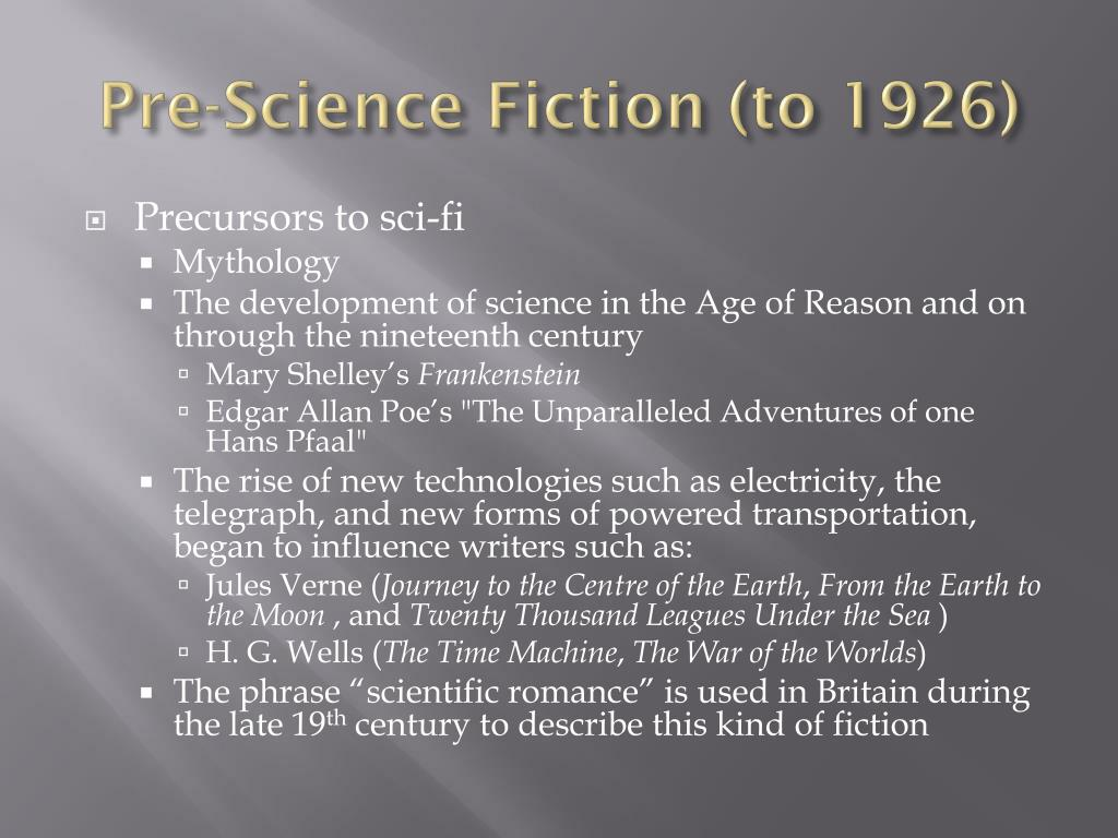 Pre-Science Fiction (to 1926)