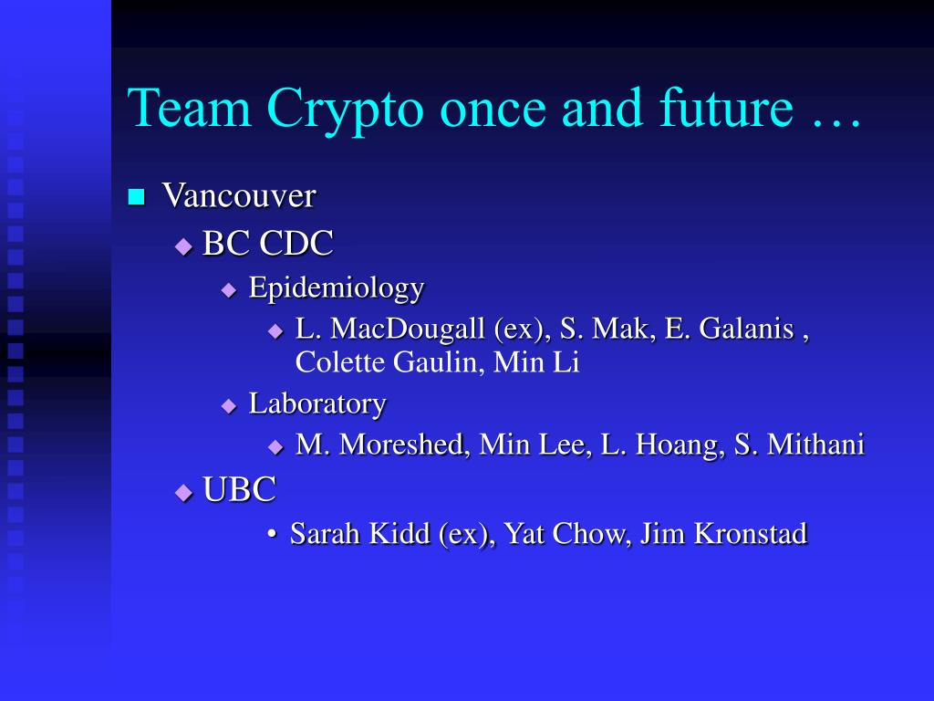 Team Crypto once and future …