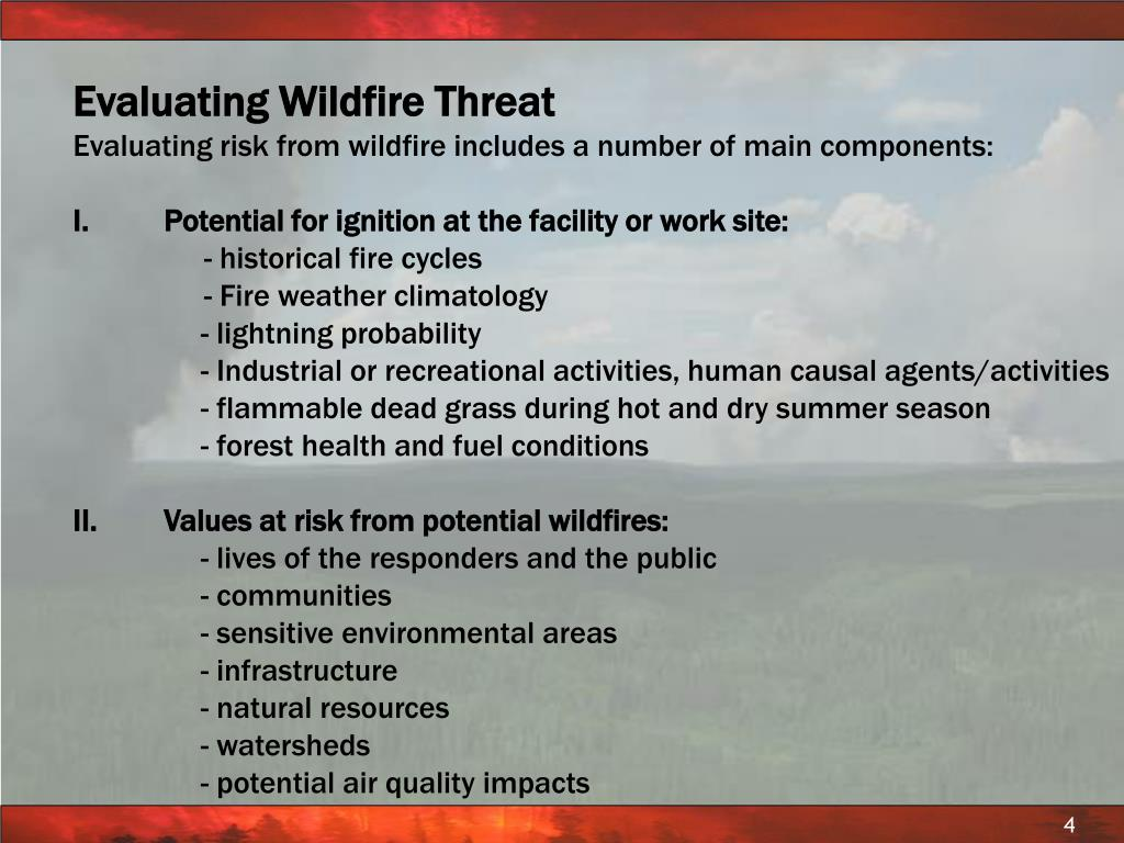 Evaluating Wildfire Threat