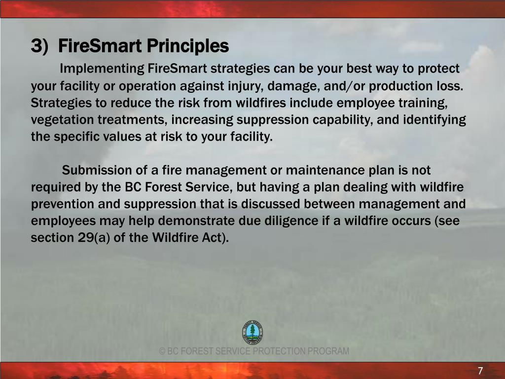 3)  FireSmart Principles
