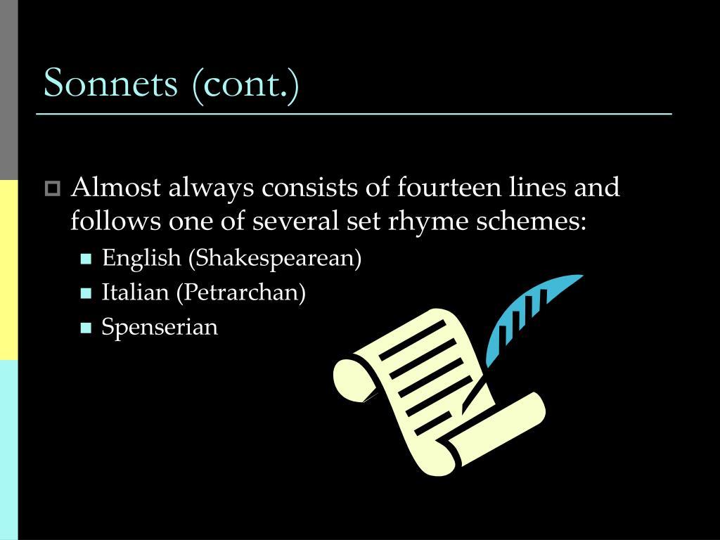 Sonnets (cont.)