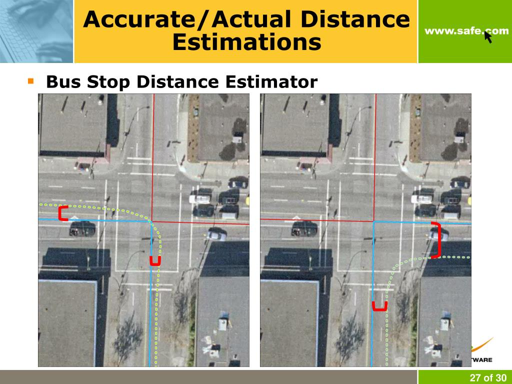 Accurate/Actual Distance Estimations