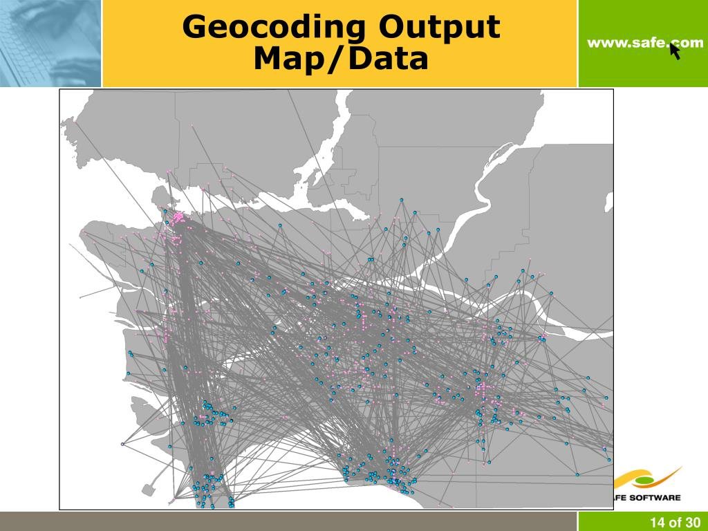 Geocoding Output Map/Data