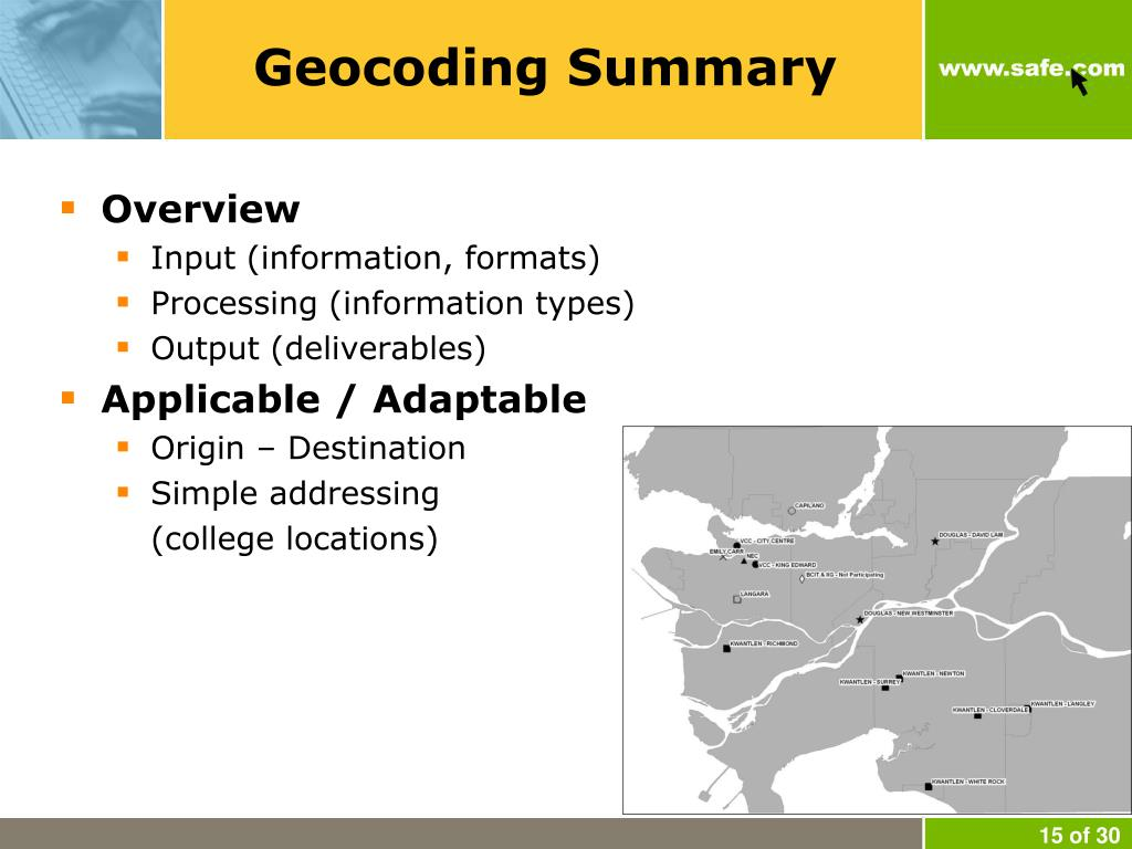 Geocoding Summary