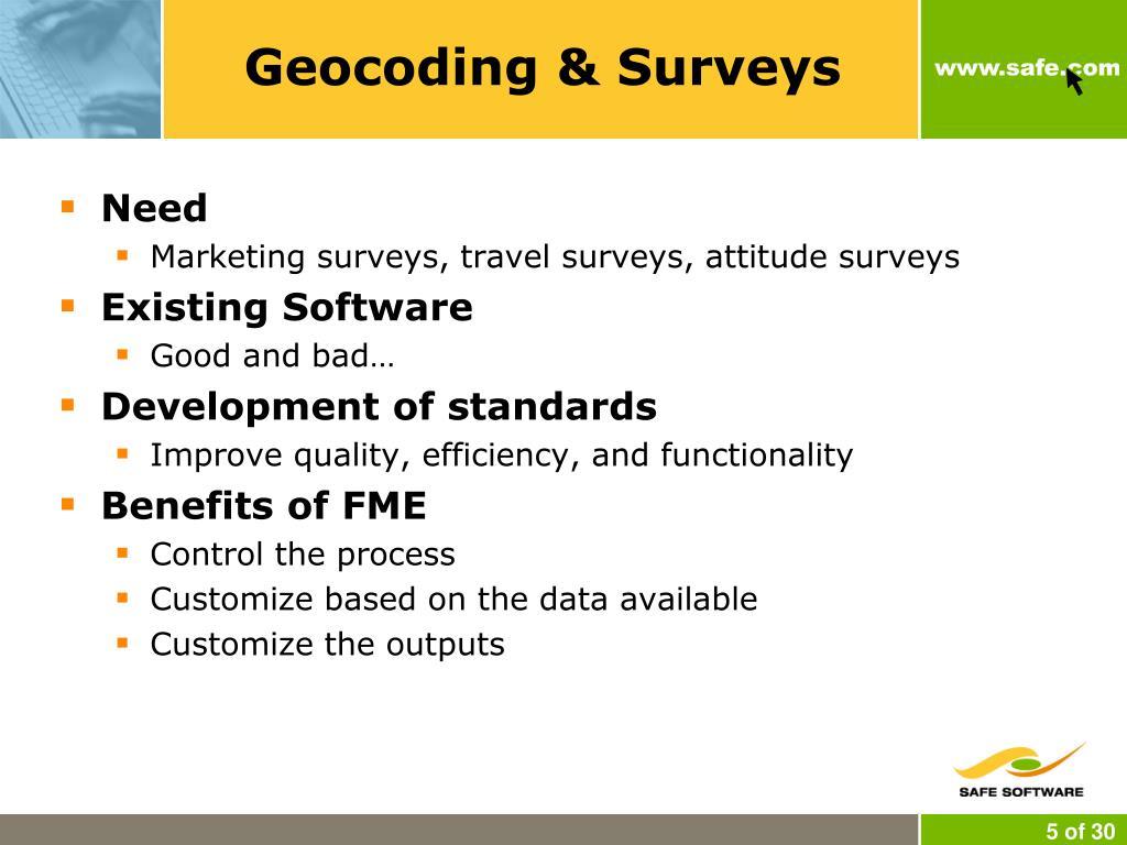Geocoding & Surveys
