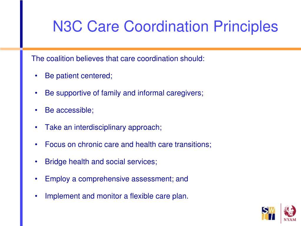 N3C Care Coordination Principles