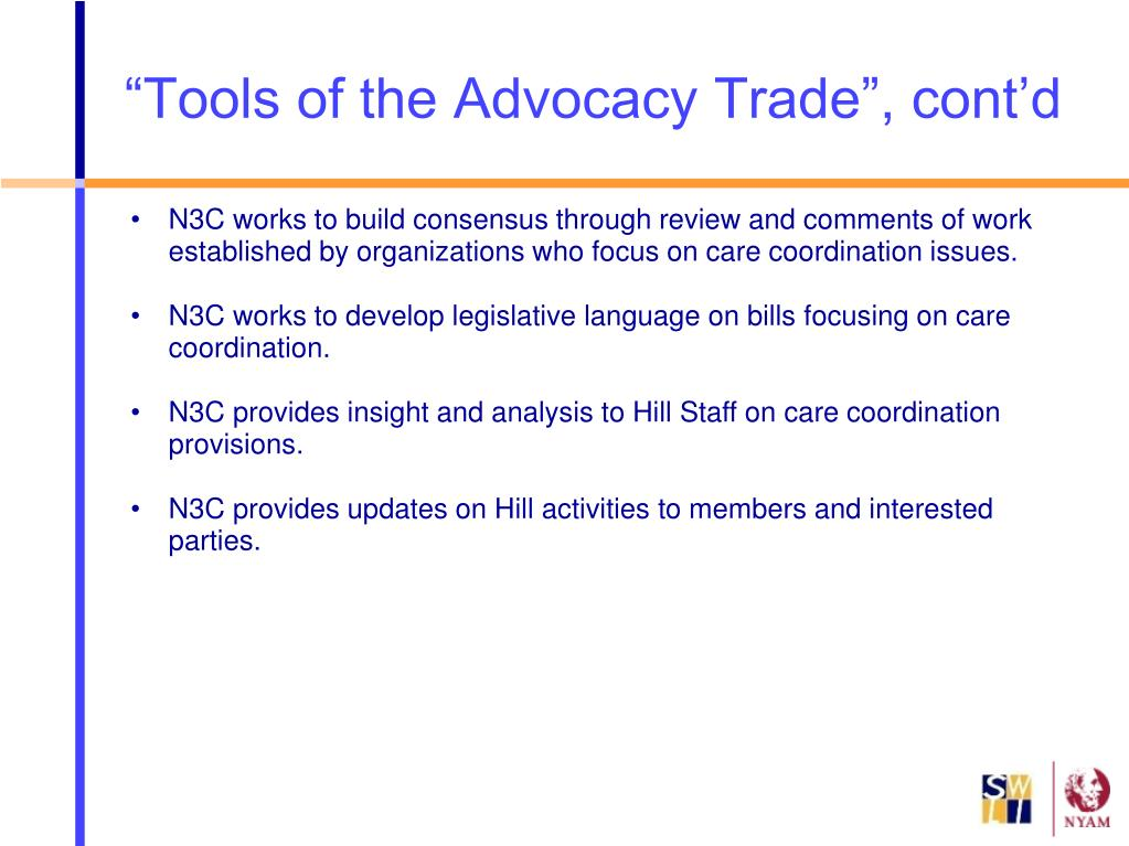 N3C works to build consensus through review and comments of work established by organizations who focus on care coordination issues.