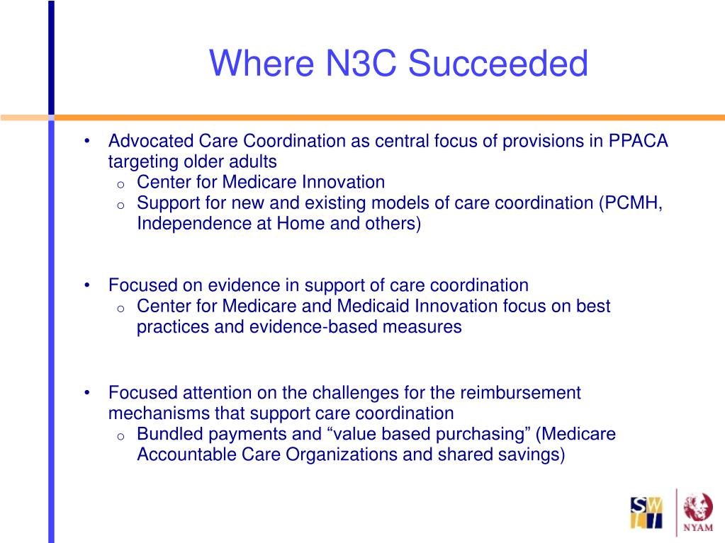 Advocated Care Coordination as central focus of provisions in PPACA targeting older adults