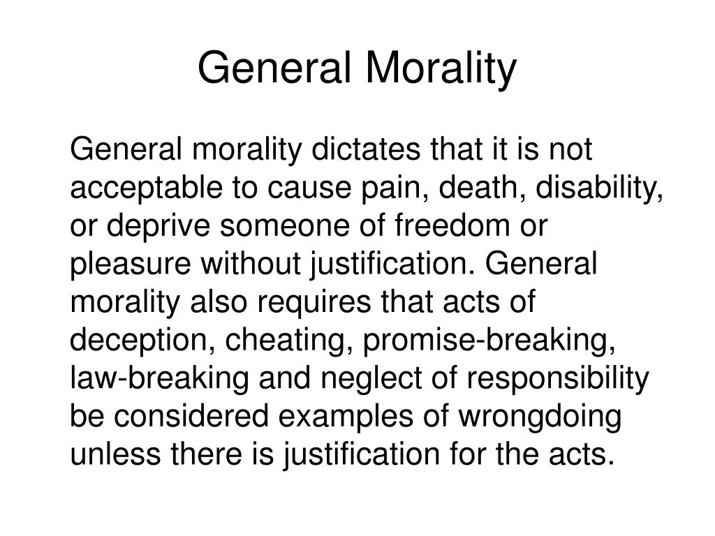 General Morality