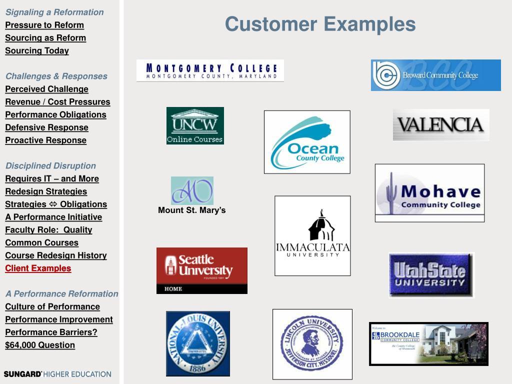Customer Examples