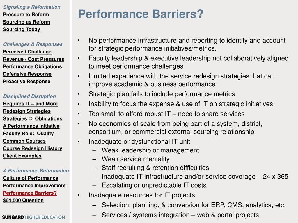 Performance Barriers?