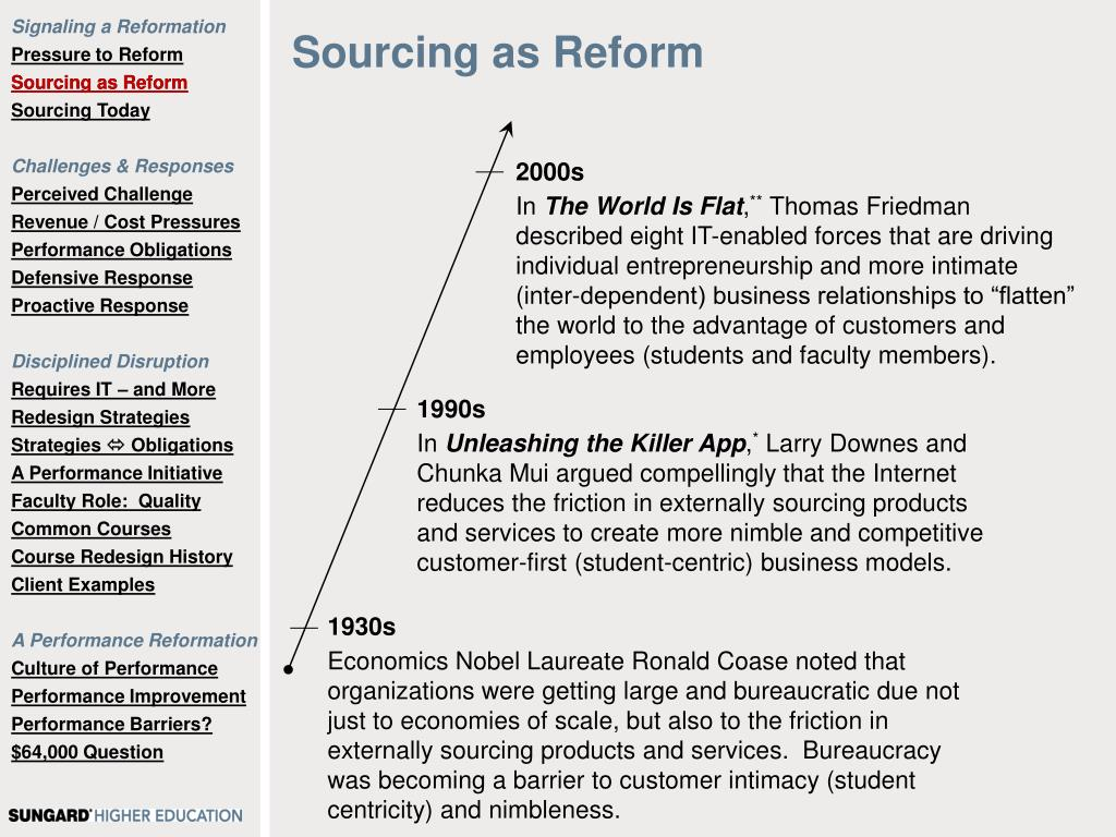 Sourcing as Reform