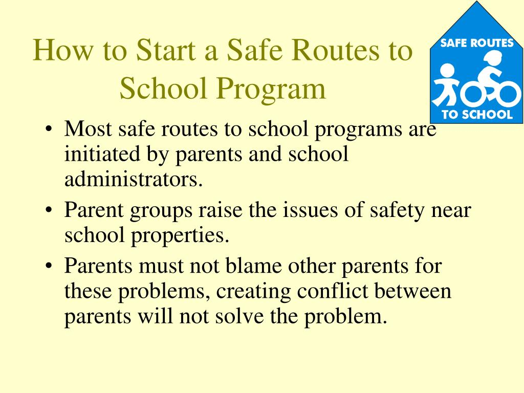 How to Start a Safe Routes to School Program