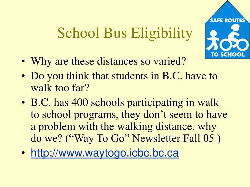 School Bus Eligibility