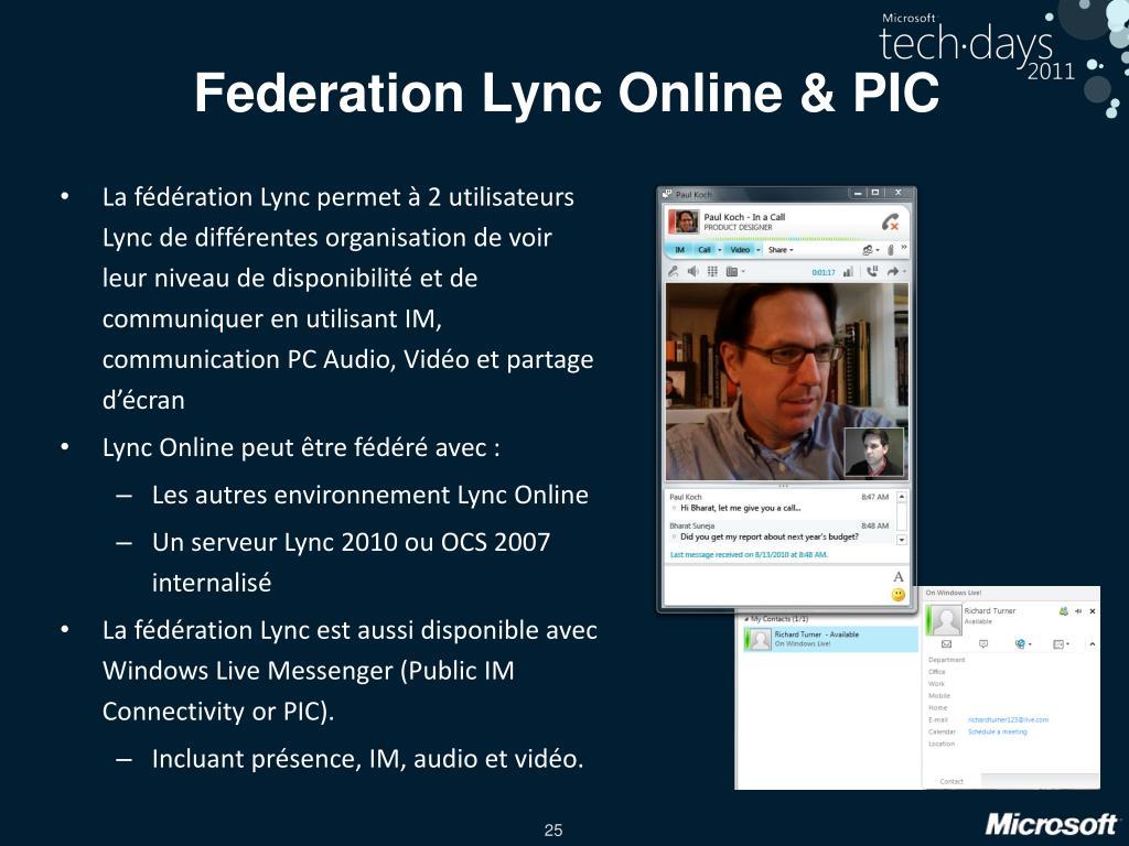 Federation Lync Online & PIC