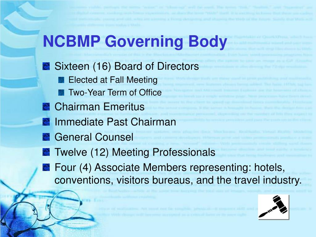 NCBMP Governing Body