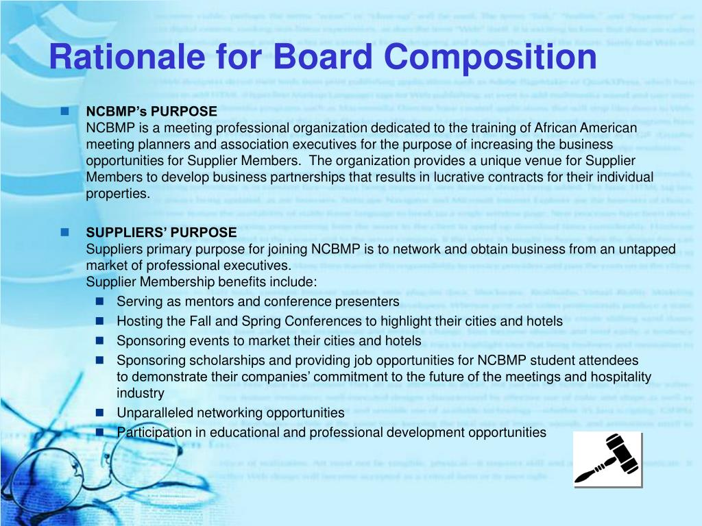 Rationale for Board Composition