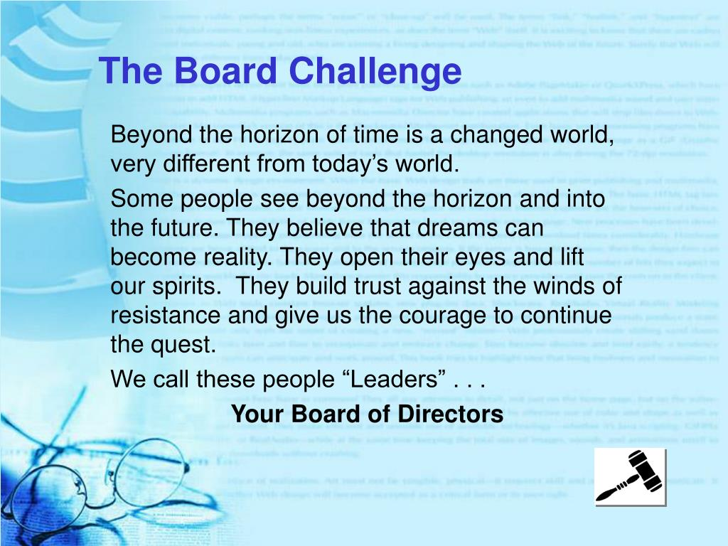 The Board Challenge