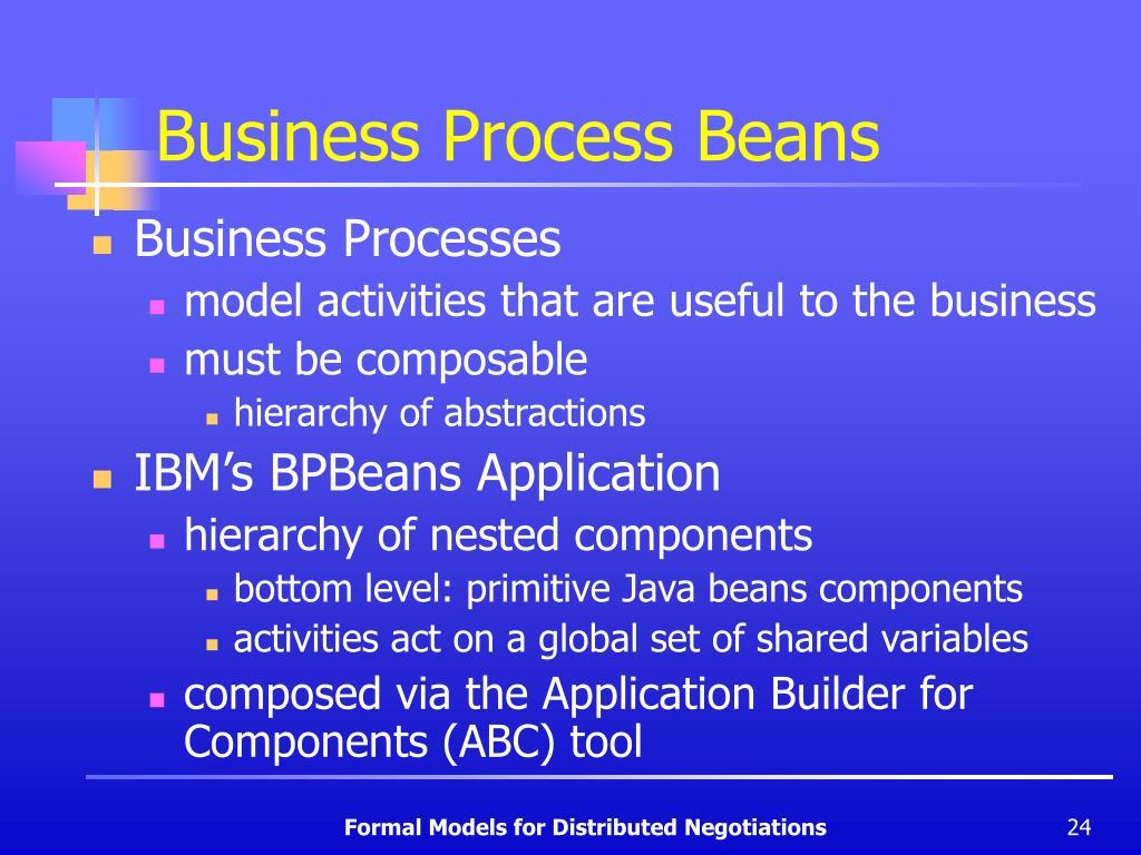 Business Process Beans