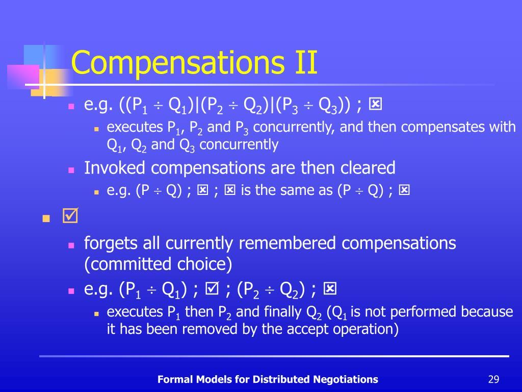 Compensations II
