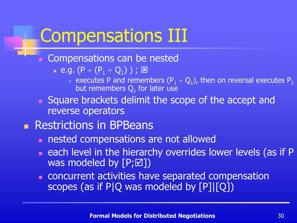 Compensations III