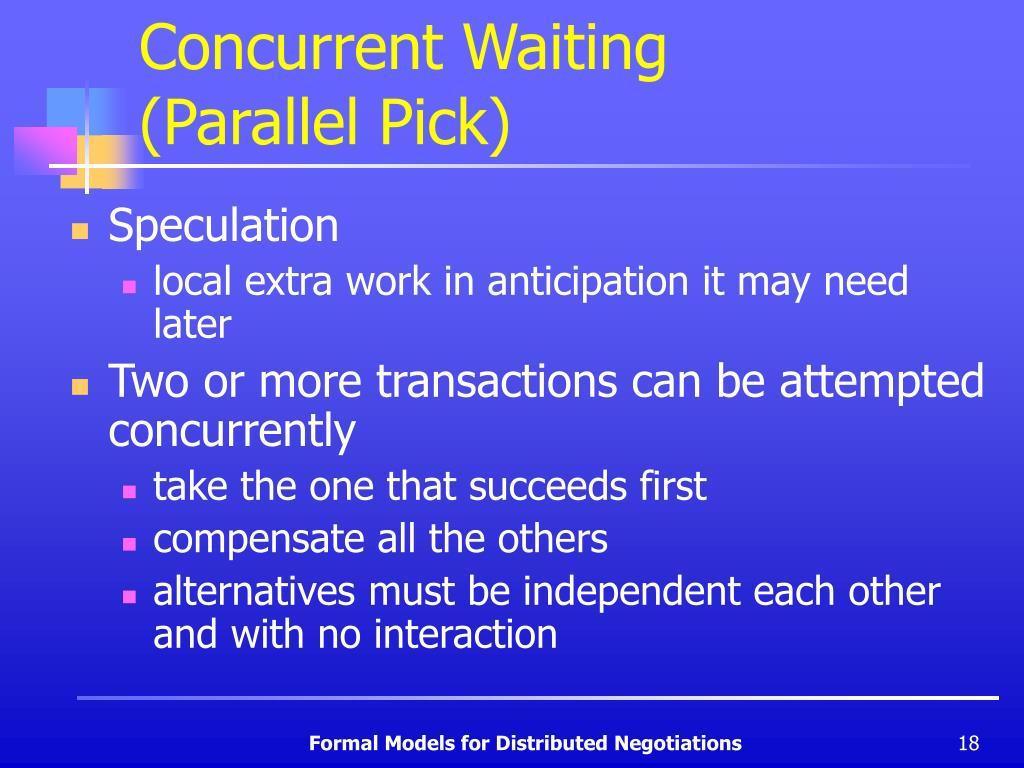 Concurrent Waiting