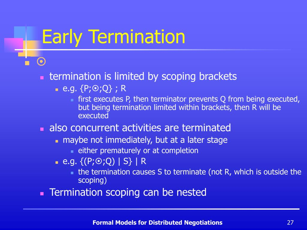 Early Termination