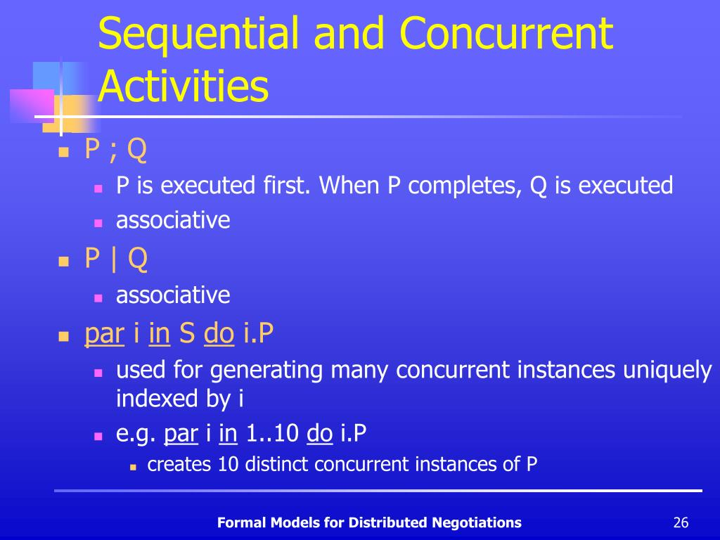 Sequential and Concurrent Activities