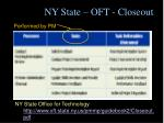 ny state oft closeout