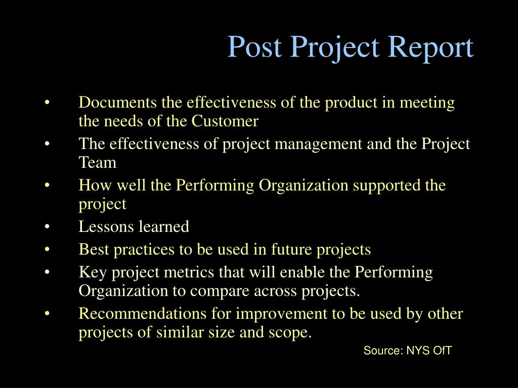 Post Project Report