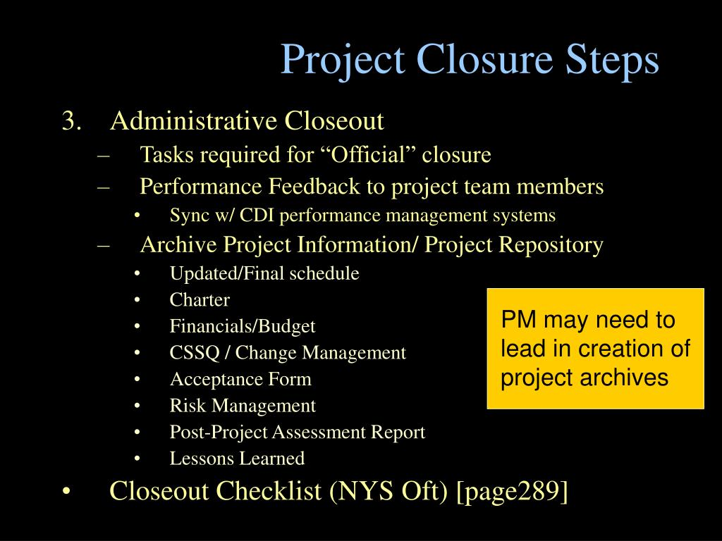 Project Closure Steps